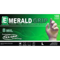 Emerald Grip Powder-Free Latex Gloves-Large