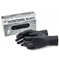 EMERALD NITROMAX Black Nitrile Gloves-Large