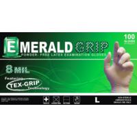 Emerald Grip Powder-Free Latex Gloves-Large